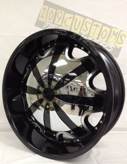 22 inch Black Rims Wheels RW130 5x120 Range Rover 2008 2009 2010 2011