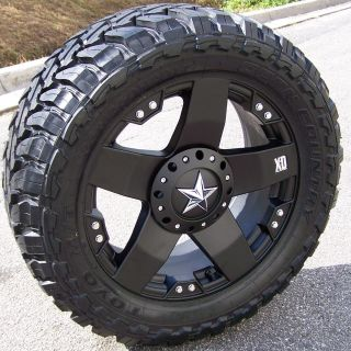 20 BLACK XD ROCKSTAR WHEELS TOYO OPEN COUNTRY M T CHEVY SILVERADO FORD