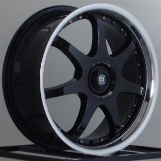 16 inch Wheels Rims Motegi Racing FF7 Gloss Black 5 Lug 5x100 5x114 3