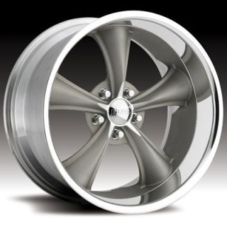 Boss Motorsports Style 338 Wheels Rims 18x8 5x4 5 14mm Gray