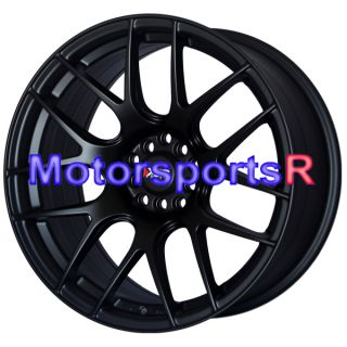 Flat Black Wheels Rims Concave Stance 5x114 3 06 11 12 Honda Civic SI
