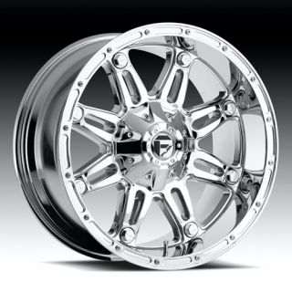 18 FUEL HOSTAGE CHROME WHEELS RIMS 35X12 50X18 FEDERAL COURAGIA MT MUD