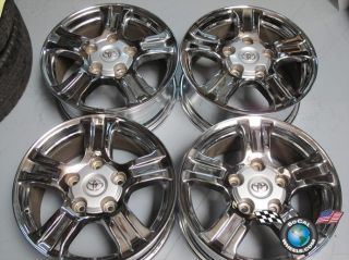 Four 07 11 Toyota Tundra Chrome Factory 18 Wheels Rims 69517 Sequoia