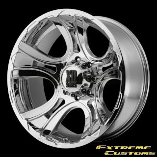 XD Series XD801 Crank Chrome 5 6 8 Lugs Wheels Rims Free Lugs