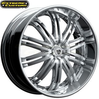 24 x9 5 Tis Luxury Wheels 532C Chrome 5 6 Lugs Rims Free Lugs