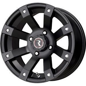 New 14X7 4x110 Raceline ATV Scorpion Black Wheels Rims