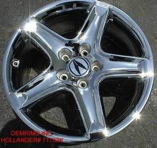 17 FACTORY ACURA TL OEM CHROME WHEELS RIMS ACCORD CL TSX 714 940 1761