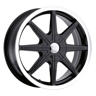 15 inch Vision 378 Kryptonite Black Wheels Rims 4x100