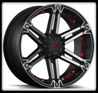 T01 Cherokee Tracker Dakota Sorento 5 6 Lug Black Wheels Rims