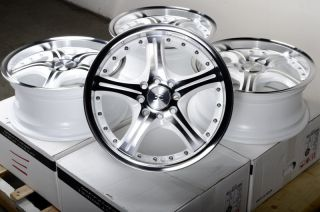 15 White Effect Wheels Rims 4 Lugs Integra Prelude Cooper Scion XA XB