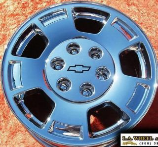 17 OEM CHEVROLET AVALANCHE SUBURBAN CHROME WHEELS RIMS EXCHANGE 5299