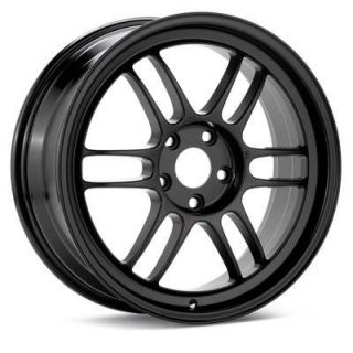 15 Enkei RPF1 Black Rims Wheels 15x7 41 4x100 9lbs Civic Integra Miata