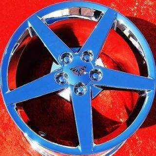 OF 4 NEW 18 19 CHEVROLET CORVETTE OEM FACTORY CHROME WHEELS RIMS 5000