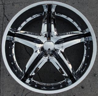 Dolce DC26 22 Chrome Rims Wheels Lexus ES330 GS300 SC300 22 x 9 0 5H