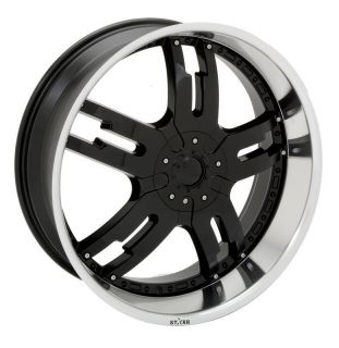22 inch Rims and Tires Wheels Starr 958 Dominator Black BMW 20 24 26