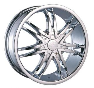 26 Wheels Rims Package Free Tires Borghini B14 Chrome 150 Expedition
