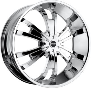 28 inch Rims Wheels Tires MKW109 5x127 Chrome Chevy Caprice 1992 1993