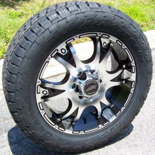 20 BLACK DAGGER WHEELS & NITTO TERRA GRAPPLER TIRES CHEVY TAHOE GMC