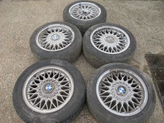BMW E30 15 BBS Lattice Alloys Wheels 7J Et24 4x100 & Tyres Centre