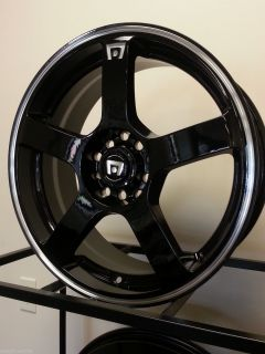 HONDA CIVIC ACURA INTEGRA Motegi MR116 Gloss Black WHEELS RIMS 4x100