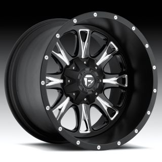 FUEL OFF ROAD THROTTLE BLACK F150 HEAVY DUTY FORD XL BLACK WHEELS RIMS