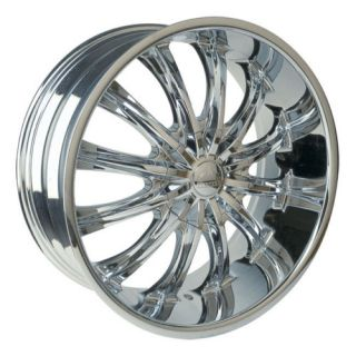 22 Chrome B15 Rims Wheels Tire Titan Sierra Dodge RAM