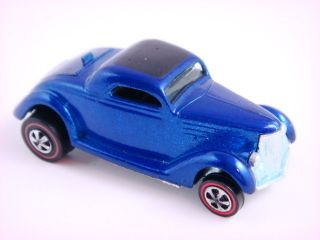 1969 Hot Wheels Classic 36 Ford Coupe Redline 6253 Blue