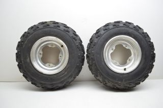 03 Polaris Predator 500 Front Wheels Rims Dunlop 21 Tires