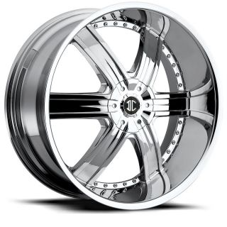 22 inch 2CRAVE No4 Chrome Wheels Rims 6x5 5 FJ Cruiser Tacoma