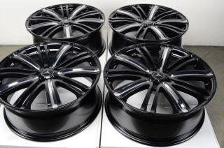 20 5x112 Rims Black Mercedes Benz S430 S500 E350 E500 S500 S600 Alloy