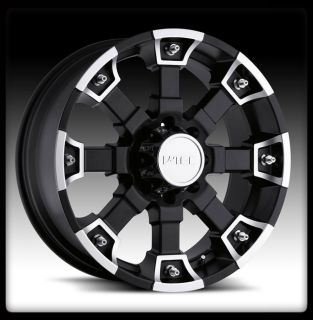 Brutal Black Machined 17 inch 5x135 Ford F150 Wheels 17x8 Rims