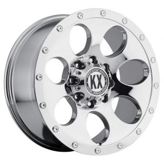 17 inch KX Offroad CP41 Chrome Wheels Rims 5x135 F150 Expedition