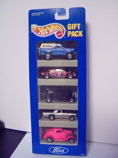 Hot Wheels Ford 5 Car Gift Pack Bronco 3 Window 34 32 Delivery T Bird