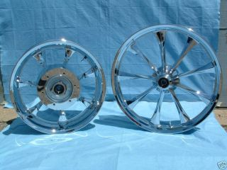 Honda Fury Chrome Rims Wheels Rim Wheel Front Rear VTX 1300