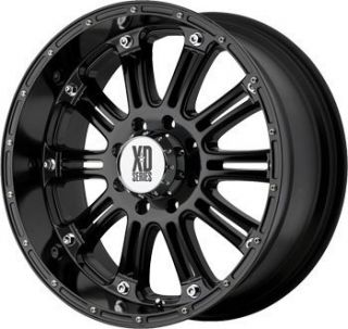 18x9 0 Hoss Wheels Tires Black Ford Chevy Truck Rims Nitto