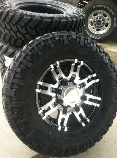 17 Black Rims and Tires 8x165 Chevy Dodge Hummer GMC Lt 285 70 17