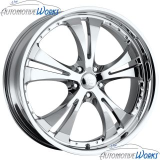 17x7 Vision Shockwave 5x110 42mm Chrome Wheels Rims inch 17