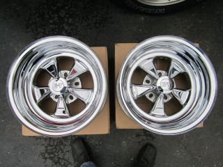 DIAMOND SPOKE MAGS 15X8 CHEVY FORD MOPAR CRAGAR NEW WHEELS RIMS RARE