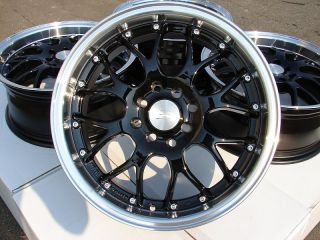 16 Effect Wheels Black Rims 4x100 4x114 3 Lancer Scion Xa Xb MR2 Yaris