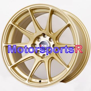 16 16x8 25 XXR 527 Gold Concave Rims Wheels 03 04 05 06 Scion xB xA