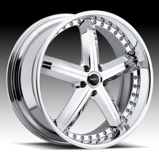 Forged Edition MONTAGE Wheel SET Multi Piece Chrome RIMS CUSTOM 2pc