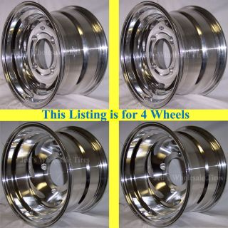 12 Polished Aluminum Rims Wheels Kawasaki Brute Force 650 12x7 4