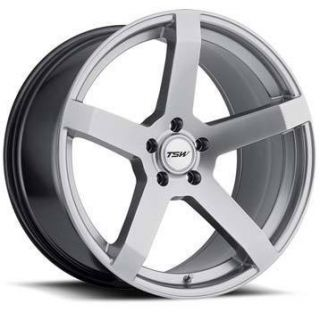TSW Tanaka Wheels 18x8 5 5x112 ET43 Hyper Silver 4 New Rims