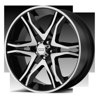 22 WHEELS RIMS AMERICAN RACING MAINLINE GLOSS BLACK ESCALADE AVALANCHE