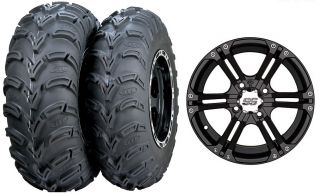 Sportsman 600 700 800 ITP SS212 Wheels 25 Mud Lite Tires Kit