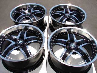 Effect Wheels Black Polished 740 550 840 545 530 M6 BMW M5 5 Lug Rims