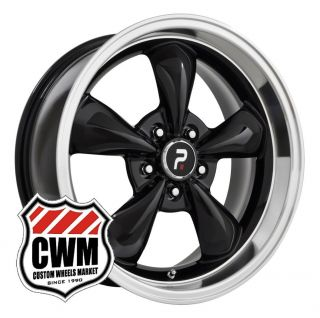 17x8 Bullitt Replica Black Wheels Rims 5x4 50 Lug Pattern for Mopar