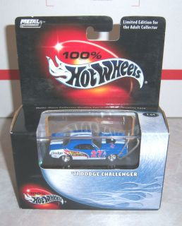 100 Hot Wheels 71 Dodge Challenger Blue Black Box Limited Edition 1 64
