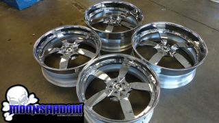 Challenger Staggered Forgiato Ito Chrome Multipiece Wheels Rims