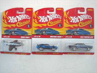 Lot of 3 Hot Wheels Classics Series 2 Madd Propz, 67 Pontiac GTO